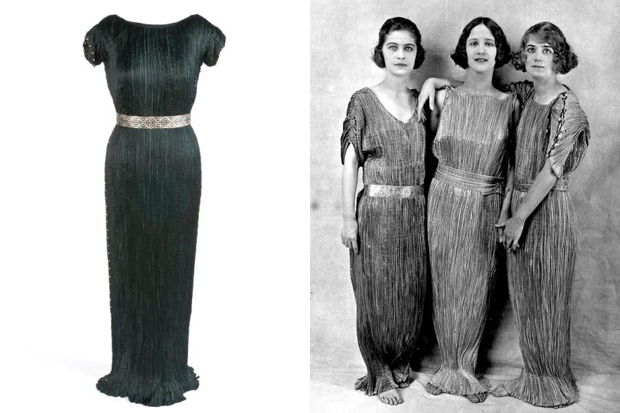 Las hijas adoptivas de la bailarina Isadora Duncan posando
